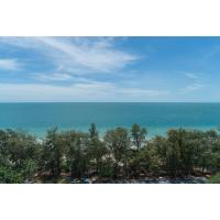 Beautiful furnished one bedroom condo for rent on the 13th floor of The Royal Rayong on Mae Rumphueng Beach in Thailand.