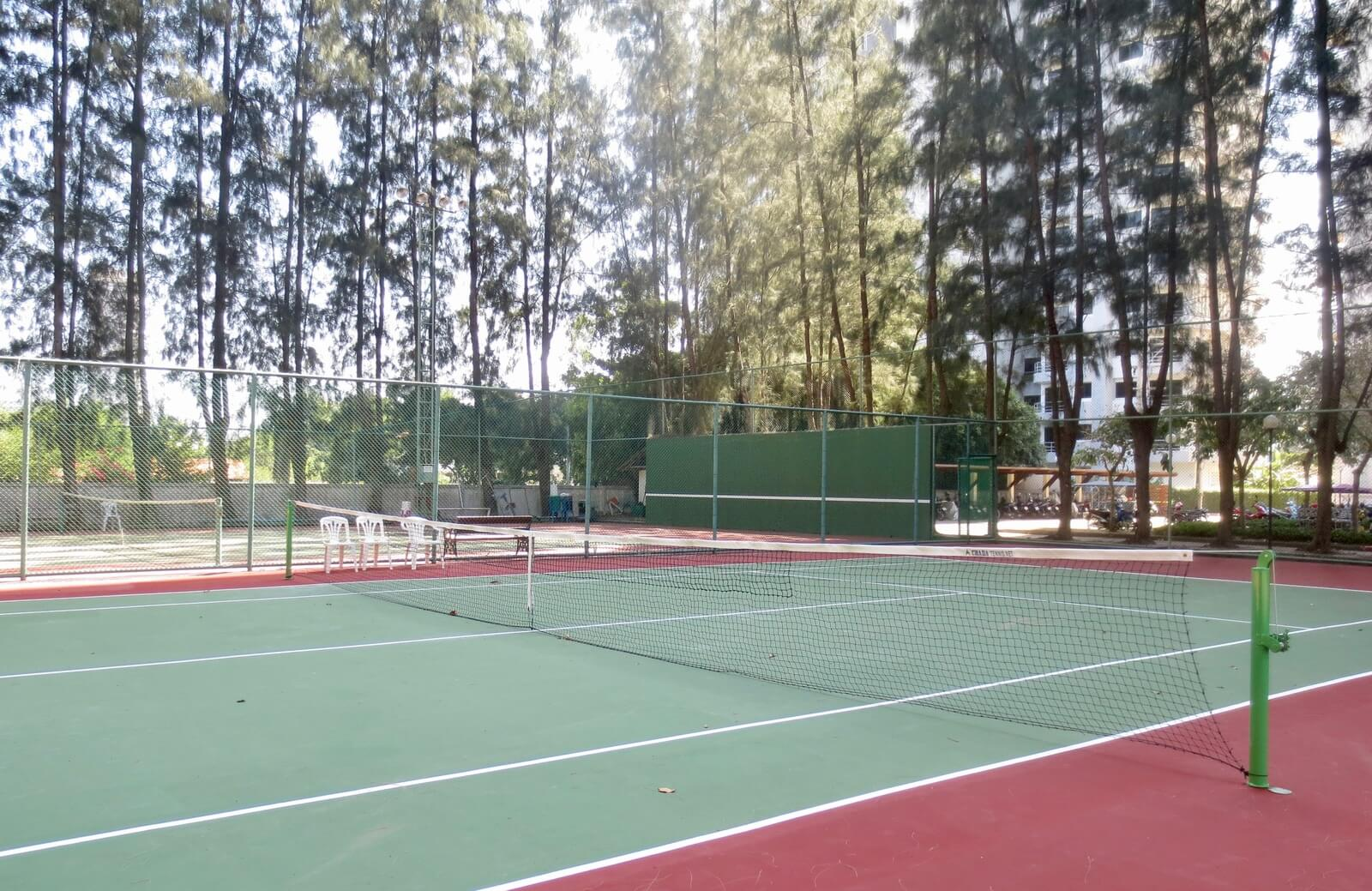 Tennis courts at VIP Condos in Mae Rumphueng Beach, Thailand