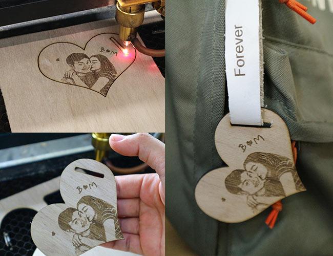 ทำพวงกุญแจไม้-tagห้อยกระเป๋าด้วยเครื่องเลเซอร์
