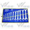 ประแจปากตาย Double Open End Spanner, CRV 12 PCS(6X7 TO 30X32MM)