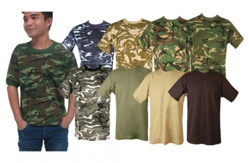 เสื้อยืดทหาร เสื้อยืดลายพราง