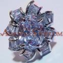 เครื่องประดับ จิวเวลรี่ แหวน ค็อกเทล เพชรสวิส CZ เพชร แท๊บเปอร์ รูป ดอกไม้ Cubic ZIrconia Zircon เพชรรัสเซีย เพชรสังเคราะห์ ของขวัญ ผู้หญิง ซื้อ ขาย ราคา ถูก ร้าน จำหน่าย พลอย