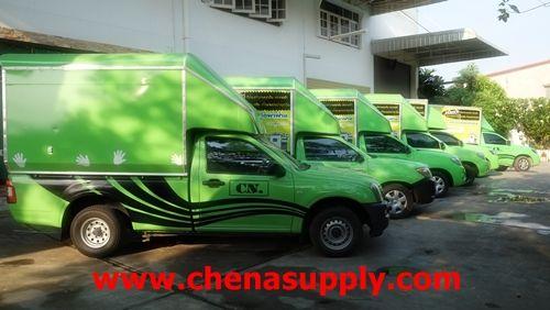 ทีมรถบริการลูกค้า ที่พร้อมให้บริการด้วยความรวดเร็วทันใจ