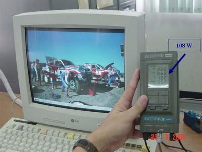 วัดการใช้พลังงานไฟฟ้ากรณีเปิดจอคอมพิวเตอร์