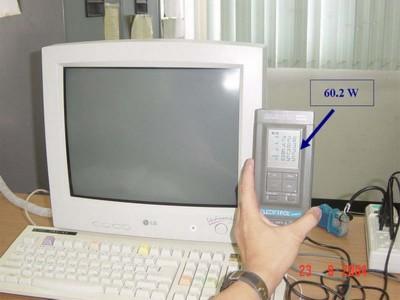 วัดการใช้พลังงานไฟฟ้ากรณีปิดจอคอมพิวเตอร์