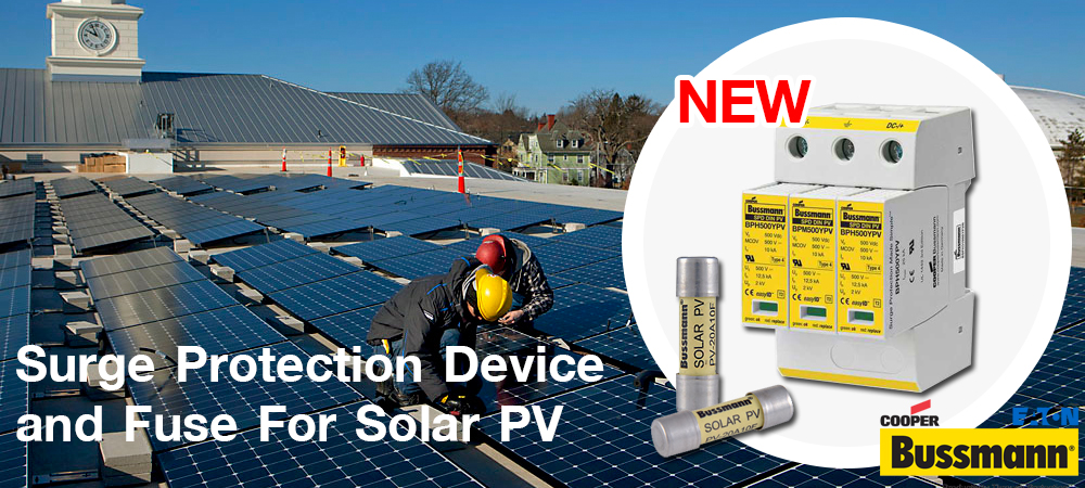 Surge Protection and Fuse for Solar PV