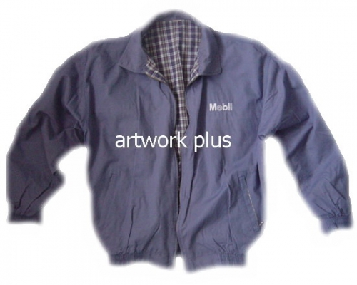 แจ็คเก็ต,เสื้อJacket,Jacket ชาย,แจ็คเก็ตพนักงาน,แจ๊คเก็ตสีน้ำเงินซับในลายสก็อต,Jacket_Mobil