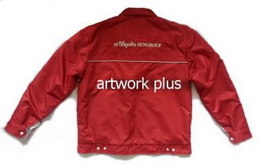 แจ็คเก็ตบริษัท,แจ๊คเก็ตยูนิฟอร์ม,แจ๊คเก็ตกันหนาว,แจ๊กเก็ตกันลม,เสื้อJacket,Jacket ชาย,แจ็คเก็ตใส่สองด้าน,แจ๊คเก็ตสีแดงด้านในสีขาว,แจ๊คเก็ตทำงาน,แจ็กเก็ตปักโลโก้
