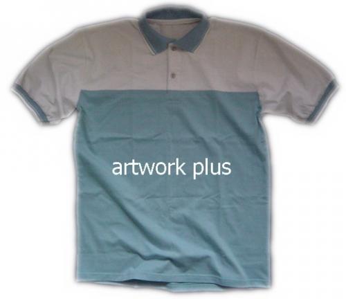 เสื้อโปโล,เสื้อโปโลสีฟ้าต่อขาว,เสื้อโปโลปักโลโก้,เสื้อโปโลบริษัท,เสื้อยืดทำงาน,เสื้อโปโลพนักงาน,เสื้อโปโลผู้ชาย,Polo Shirt,T-Shirt