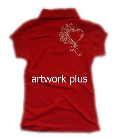 รับผลิตเสื้อโปโล,เสื้อโปโลสีแดง,เสื้อโปโลปักโลโก้ด้านหลัง,เสื้อโปโลบริษัท,เสื้อยืดทำงาน,เสื้อโปโลพนักงาน,เสื้อโปโลผู้หญิง,Polo Shirt,T-Shirt