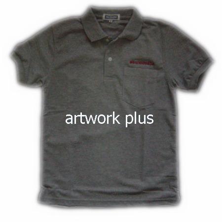 เสื้อโปโล,เสื้อโปโลสีเทาเข้ม,เสื้อโปโลปักโลโก้,เสื้อโปโลบริษัท,เสื้อยืดทำงาน,เสื้อโปโลพนักงาน,เสื้อโปโลผู้ชาย,Polo Shirt,T-Shirt
