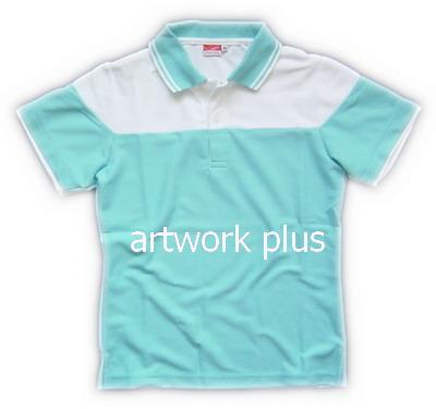 เสื้อโปโล,เสื้อโปโลกีฬา,เสื้อยืดพนักงาน,เสื้อโปโลพนักงาน,เสื้อโปโลผู้หญิง,เสื้อโปโลสีฟ้าต่อขาว,เสื้อฟอร์มโปโล,Polo Shirt,T-Shirt