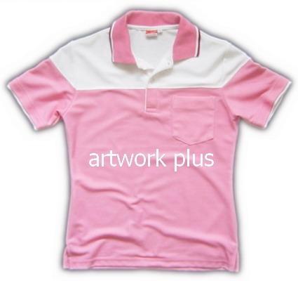 เสื้อโปโล,เสื้อโปโลกีฬา,เสื้อยืดพนักงาน,เสื้อโปโลพนักงาน,เสื้อโปโลผู้หญิง,เสื้อโปโลสีชมพูต่อขาว,เสื้อฟอร์มโปโล,Polo Shirt,T-Shirt