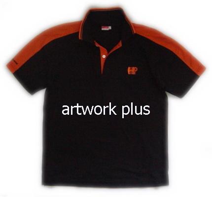 เสื้อโปโล,เสื้อโปโลสีดำต่อแขนส้ม,เสื้อโปโลบริษัท,เสื้อยืดทำงาน,เสื้อโปโลพนักงาน,เสื้อโปโลผู้ชาย,Polo Shirt,T-Shirt