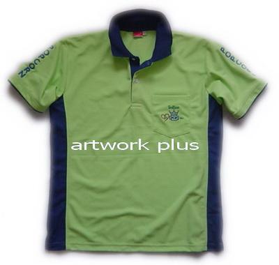 เสื้อโปโล,เสื้อโปโลสีเขียวข้างน้ำเงิน,เสื้อโปโลบริษัท,เสื้อยืดทำงาน,เสื้อโปโลพนักงาน,เสื้อโปโลผู้ชาย,Polo Shirt,T-Shirt, POP CORN