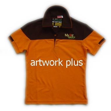 เสื้อโปโล,เสื้อโปโลสีส้มตัดต่อน้ำตาล,เสื้อโปโลบริษัท,เสื้อยืดทำงาน,เสื้อโปโลพนักงาน,เสื้อโปโลผู้ชาย,Polo Shirt,T-Shirt