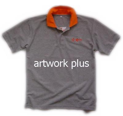 เสื้อโปโล,เสื้อโปโลสีเทาปกส้ม,เสื้อโปโลบริษัท,เสื้อยืดทำงาน,เสื้อโปโลพนักงาน,เสื้อโปโลผู้ชาย,Polo Shirt,T-Shirt