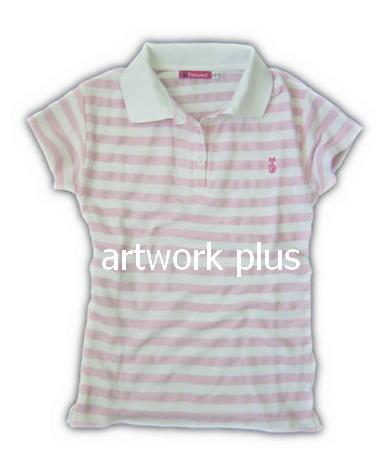 เสื้อโปโล,เสื้อโปโลลายริ้วสีขาวชมพู,เสื้อโปโลปักโลโก้,เสื้อโปโลบริษัท,เสื้อยืดทำงาน,เสื้อโปโลพนักงาน,เสื้อโปโลผู้ชาย,Polo Shirt,T-Shirt