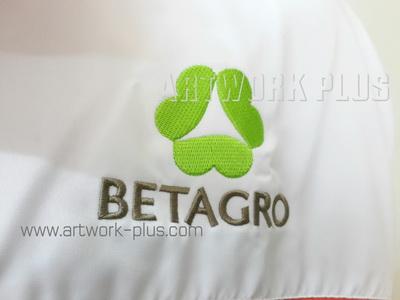 รับปัก,รับปักโลโก้,ปักเสื้อ,ทำอาร์มติดเสื้อ,ปักโลโก้_BETAGRO_Logo