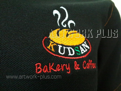 รับปัก,รับปักโลโก้,ปักเสื้อ,ทำอาร์มติดเสื้อ,ปักโลโก้_KUDSAN_Logo