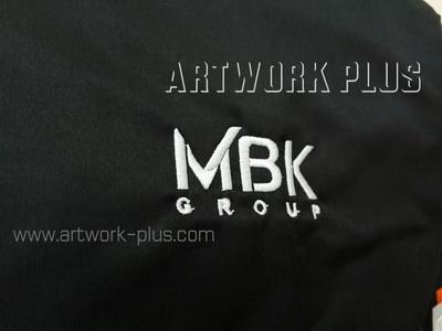 รับปัก,รับปักโลโก้,ปักเสื้อ,ทำอาร์มติดเสื้อ,ปักโลโก้_MBK_Logo