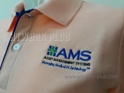 รับปัก,รับปักโลโก้,ปักเสื้อ,ทำอาร์มติดเสื้อ,ปักโลโก้,Logo_AMS