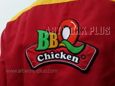 รับปัก,รับปักโลโก้,ปักเสื้อ,ทำอาร์มติดเสื้อ,ปักโลโก้,Logo_BBQ