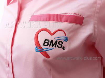 รับปัก,รับปักโลโก้,ปักเสื้อ,ทำอาร์มติดเสื้อ,ปักโลโก้,Logo_BMS