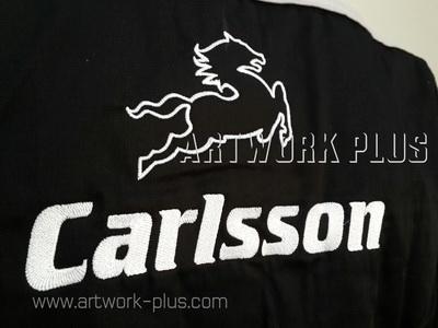 รับปัก,รับปักโลโก้,ปักเสื้อ,ทำอาร์มติดเสื้อ,ปักโลโก้,Logo_CARLSSON