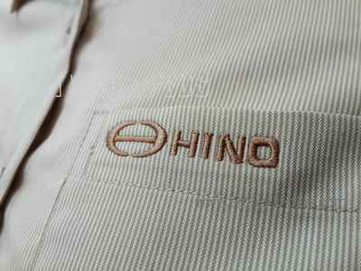 รับปัก,รับปักโลโก้,ปักเสื้อ,ทำอาร์มติดเสื้อ,ปักโลโก้,Logo_HINO