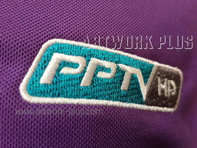 รับปัก,รับปักโลโก้,ปักเสื้อ,ทำอาร์มติดเสื้อ,ปักโลโก้,Logo_PPTV