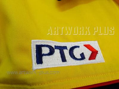 รับปัก,รับปักโลโก้,ปักเสื้อ,ทำอาร์มติดเสื้อ,ปักโลโก้,Logo_PTG