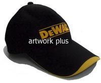 หมวกแก๊ปพนักงานทำงาน,หมวกแก๊ปสีดำต่อเหลือง,หมวกกอล์ฟ,หมวกปักโลโก้,หมวก cap,cap,หมวกพรีเมี่ยม,หมวกกีฬา,หมวกผ้าฝ้าย