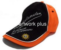 หมวกแก๊ปโฆษณา,หมวกแก๊ปส่งเสริมการขาย,หมวกแก๊ปสีดำตัดต่อสีส้ม,หมวกกอล์ฟ,หมวกปักโลโก้,หมวก cap,cap,หมวกพรีเมี่ยม,หมวกกีฬา,หมวกผ้าฝ้าย