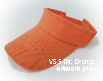 VISOR HAT, VISOR, SOFT, Cap, Orange