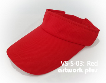 VISOR HAT, VISOR, SOFT, Cap, Red