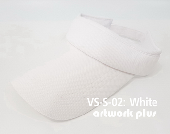 VISOR HAT, VISOR, SOFT, Cap, White