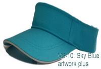 หมวกไวเซอร์ สีฟ้า, หมวกกันแดด, หมวกเปิดศีรษะ, หมวกกีฬา, Visor Cap, หมวกเปล่า, หมวกกอล์ฟ, หมวกเปิดหัว, หมวกปักโลโก้, หมวกโฆษณา, หมวกสกรีน, หมวกส่งเสริมการขาย, หมวกราคาส่ง, หมวกกีฬาสี, หมวกผ้าฝ้าย