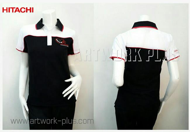 เสื้อพนักงานโปโล,รับผลิตเสื้อโปโล,ผู้ผลิตเสื้อโปโล,โรงงานเสื้อ,Polo Shirt_HITACHI