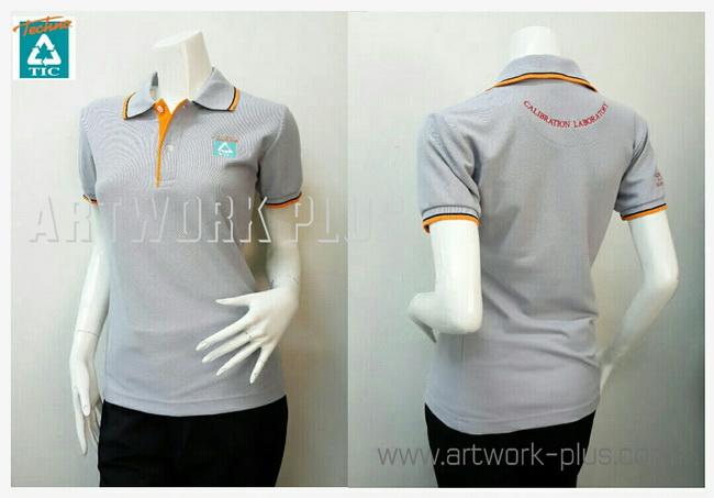 เสื้อพนักงานโปโล,เสื้อโปโลผู้หญิงสีเทา,รับผลิตเสื้อโปโล,ผู้ผลิตเสื้อโปโล,โรงงานเสื้อPolo Shirt_Techno TIC