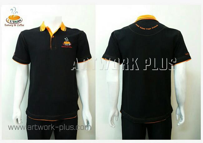 เสื้อโปโล,เสื้อโปโลสีดำแต่งส้ม,รับผลิตเสื้อโปโล,ผู้ผลิตเสื้อโปโล,โรงงานผลิตเสื้อโปโล,เสื้อโปโลพนักงาน,เสื้อโปโลบริษัท,Polo Shirt