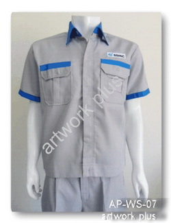 เสื้อช็อปสีเทาต่อฟ้า,เสื้อพนักงาน_SSMC,แบบเสื้อช็อปช่าง,เสื้อพนักงาน,Work Shirt,ชุดยูนิฟอร์ม,รับผลิตเสื้อพนักงานบริษัท,โรงงานผลิตเสื้อทำงาน,ชุดฟอร์มโรงงาน,ชุดช่างโรงงาน,กางเกงทำงาน