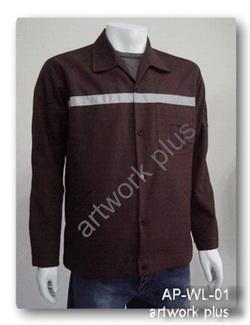 เสื้อช็อปผ้าเสริท,เสื้อช่างแขนยาว,เสื้อช็อปติดเทปสะท้อนแสง,เสื้อพนักงานสีน้ำตาล,Work Shirt,ชุดยูนิฟอร์ม,รับผลิตเสื้อพนักงานบริษัท,โรงงานผลิตเสื้อทำงาน,ชุดฟอร์มโรงงาน,ชุดช่างโรงงาน,กางเกงทำงาน