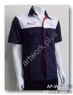 เสื้อช็อปสีกรมท่าต่อขาว,เสื้อพนักงาน_HITACHI,แบบเสื้อช็อปช่าง,เสื้อพนักงาน,Work Shirt,ชุดยูนิฟอร์ม,รับผลิตเสื้อพนักงานบริษัท,โรงงานผลิตเสื้อทำงาน,ชุดฟอร์มโรงงาน,ชุดช่างโรงงาน,กางเกงทำงาน