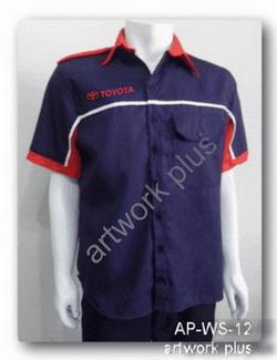 เสื้อพนักงานสีกรมท่าต่อขาว,เสื้อพนักงาน_TOYOTA,แบบเสื้อช็อปช่าง,เสื้อพนักงาน,Work Shirt,ชุดยูนิฟอร์ม,รับผลิตเสื้อพนักงานบริษัท,โรงงานผลิตเสื้อทำงาน,ชุดฟอร์มโรงงาน,ชุดช่างโรงงาน,กางเกงทำงาน