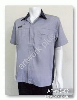 เสื้อช็อปสีเทา,เสื้อพนักงานบริษัท,แบบเสื้อช็อปช่าง, Work Shirt,ชุดยูนิฟอร์ม,รับผลิตเสื้อพนักงานบริษัท,โรงงานผลิตเสื้อทำงาน,ชุดฟอร์มโรงงาน,ชุดช่างโรงงาน,กางเกงทำงาน