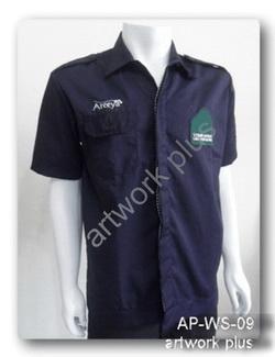 เสื้อแขนสั้นสีน้ำเงินกรมท่า,เสื้อพนักงาน_อารียา,แบบเสื้อช็อปช่าง,เสื้อพนักงาน,Work Shirt,ชุดยูนิฟอร์ม,รับผลิตเสื้อพนักงานบริษัท,โรงงานผลิตเสื้อทำงาน,ชุดฟอร์มโรงงาน,ชุดช่างโรงงาน,กางเกงทำงาน