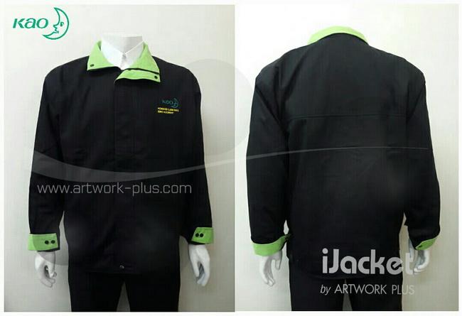โรงงานผลิตแจ็คเก็ต,เสื้อJacket,Jacket ชาย,แจ็คเก็ตพนักงาน,แจ๊คเก็ตสีดำ,แจ๊คเก็ต_คาโอ,Jacket_Kao