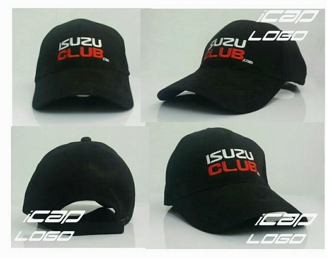 หมวกแก๊ป หมวกCap หมวกแก๊ปปีกยาว หมวกแก๊ปปักโลโก้ หมวกแก๊ปพรีเมี่ยม ISUZU
