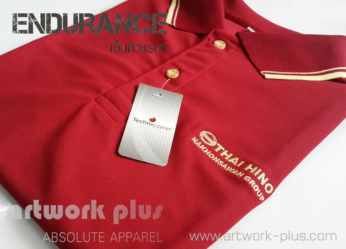 POLO SHIRT,ENDURANCE,Polyester,HINO,artwork plus